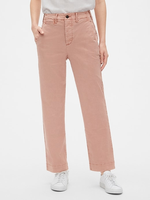 High Rise Straight Chinos