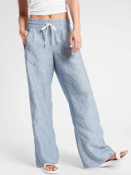 Cabo Linen Wide Leg Pant