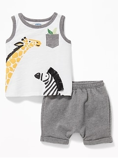 a66824863 Graphic Pocket Tank & French Terry Shorts Set for Baby