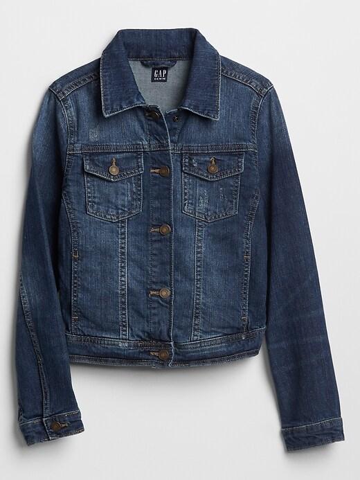 Kids Destructed Denim Jacket