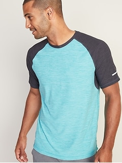 a49be0f34314d Ultra-Soft Breathe ON Built-In Flex Color-Blocked Tee for Men