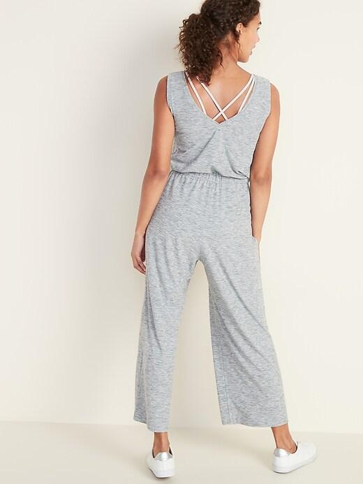 Breathe ON Waist-Defined Sleeveless Jumpsuit for Women