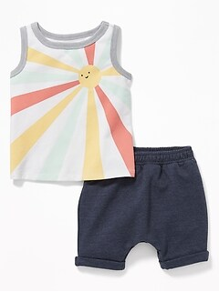 761147cd5 Graphic Tank & French Terry Shorts Set for Baby