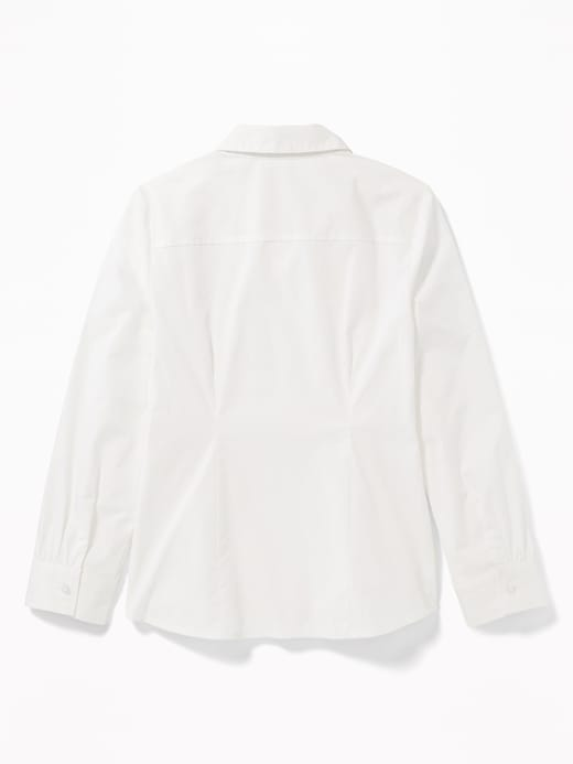 Uniform Long-Sleeve Poplin Shirt for Girls