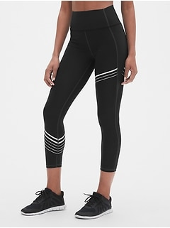8f8cf11db3d28 GapFit High Rise Stripe 7/8 Leggings in Sculpt Revolution