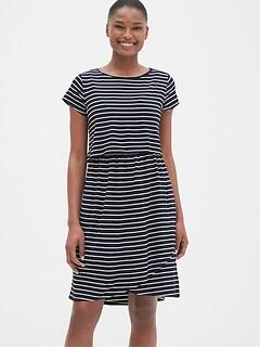 4945fb1aa38 Maternity Stripe Layered Nursing T-Shirt Dress