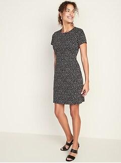 f94a21ae1fd Printed Ponte-Knit Sheath Dress for Women