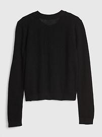 Kids Pointelle Cardigan Sweater