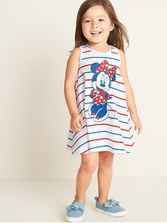 ac676425d17 Disney  169 Minnie Mouse Graphic Swing Dress for Toddler Girls