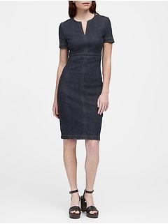 9ef08adcb35 Denim Sheath Dress