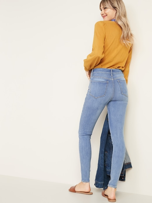 High-Waisted Rockstar Built-In Sculpt Super Skinny Jeans For Women