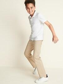 Uniform Stain-Resistant Built-In Flex Pique Polo for Boys