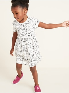 3ccacb1bc40 Jersey Fit   Flare Dress for Toddler Girls