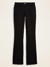 Mid-Rise Micro-Flare Black Jeans for Women