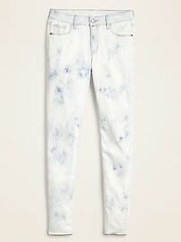 Mid-Rise Tie-Dye Rockstar Super Skinny Ankle Jeans for Women