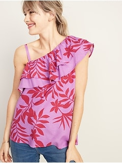 34a036afe4b2 Ruffle-Tiered One-Shoulder Top for Women