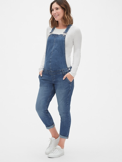 Maternity Denim Overalls