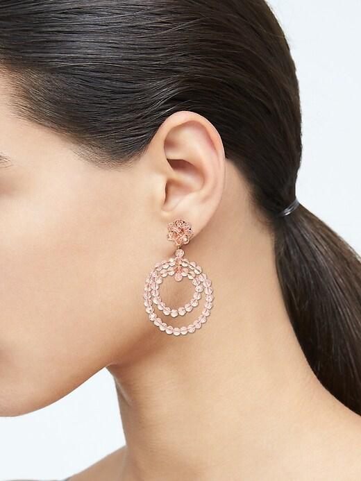 Boucles d'oreilles à double anneau et à perles estivales