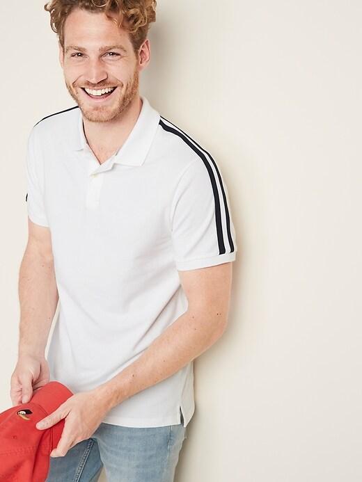 Moisture-Wicking Sleeve-Stripe Pro Polo for Men