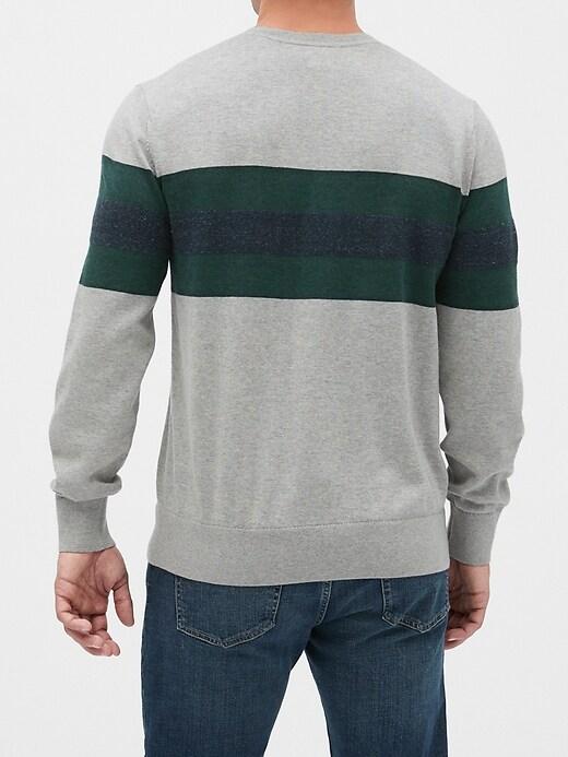 Chest Stripe Crewneck Sweater