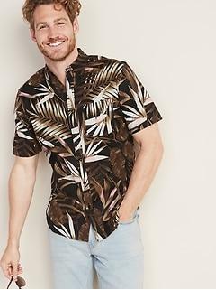 3d29864a0 Slim-Fit Built-In Flex Printed Everyday Shirt for Men