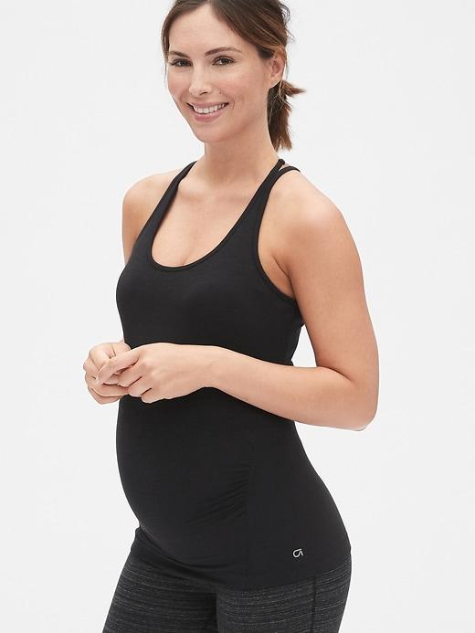 Maternity GapFit Breathe Strappy Shelf Tank