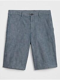 "10"" Chambray Shorts with GapFlex"
