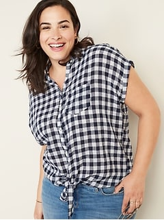 Women\'s Plus-Size Shirts & Blouses | Old Navy