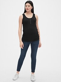 Maternity Ribbed Henley Tank Top