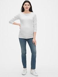 Maternity Modern Long Sleeve Boatneck T-Shirt