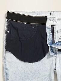 High-Waisted Secret-Slim Pockets + Waistband Plus-Size Rockstar Super Skinny Frayed-Hem Jeans