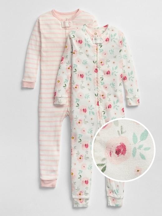 babyGap Floral Stripe PJ One-Piece (2-Pack)