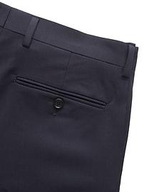 Extra-Slim Italian Wool Suit Pant