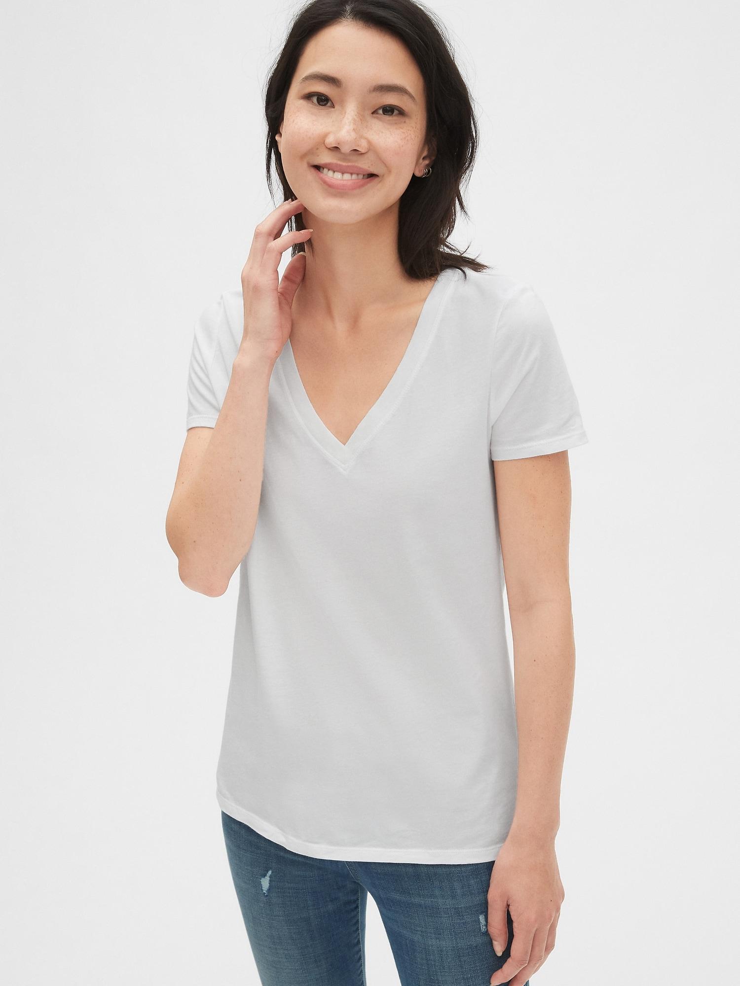 半袖vネックtシャツ(ヴィンテージウォッシュ)
