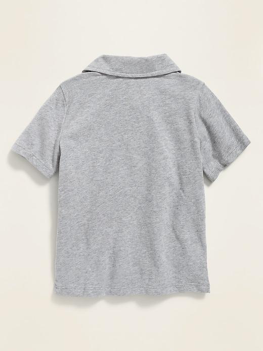 Jersey Short-Sleeve Polo for Toddler Boys