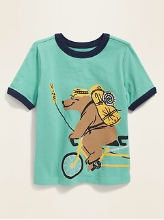 0f394326d0f6df Critter Wrap-Around Graphic Ringer Tee for Toddler Boys