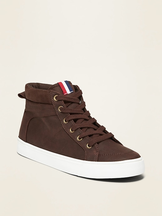 Faux-Suede High-Tops for Boys
