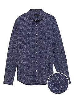 ea83977c02e94f Untucked Slim-Fit Tech-Stretch Cotton Shirt