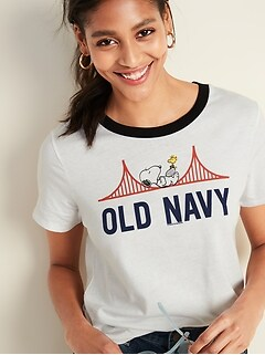 b2e28dee2 Peanuts® Snoopy-Graphic Tee for Women