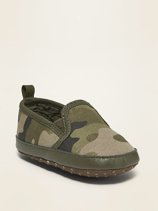 Camo Canvas Slip-Ons for Baby