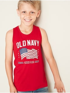 ddbe3557f0 2019 Flag Graphic Tank for Boys