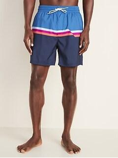 e4125984aa Printed Swim Trunks for Men - 6-inch inseam