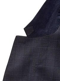 Veste de complet en laine italienne, coupe cintrée