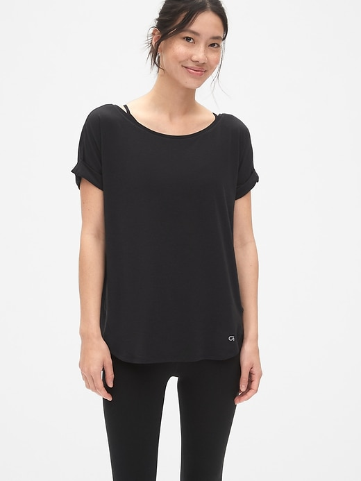 GapFit Breathe Roll Sleeve T-Shirt