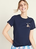 OldNavy.com deals on Old Navy EveryWear Graphic Crew-Neck Tee for Women