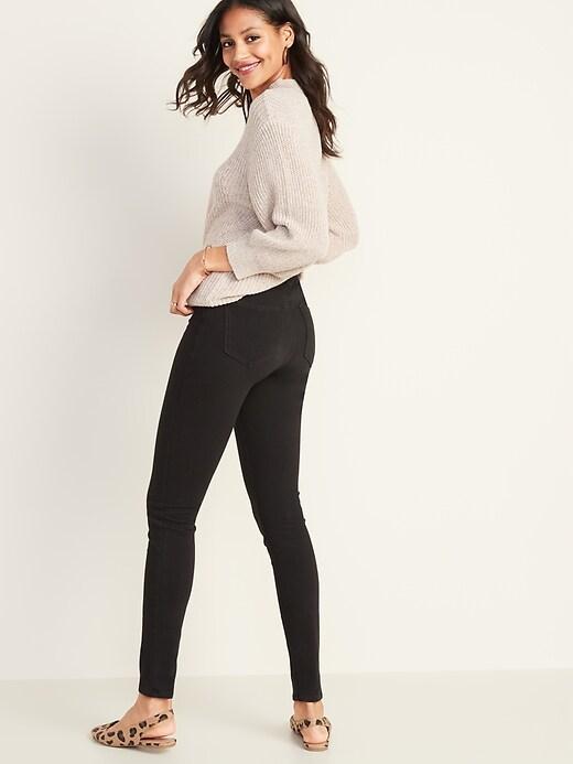 High-Waisted Rockstar 24/7 Sculpt Super Skinny Black Jeans For Women