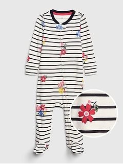 0cca2a1d0aa75 Baby Print Footed One-Piece