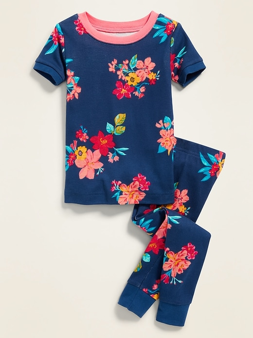 Floral-Print Sleep Set For Toddler Girls & Baby