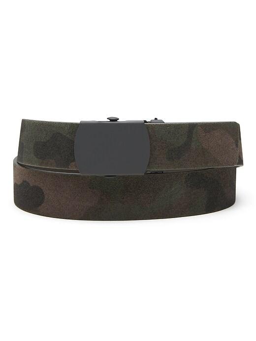 Camo Suede Plaque Belt