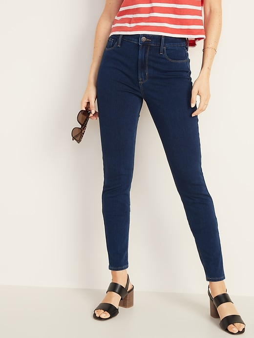 High-Waisted Rockstar 24/7 Sculpt Super Skinny Jeans For Women